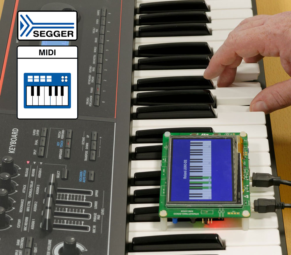 USB host stack supports MIDI devices